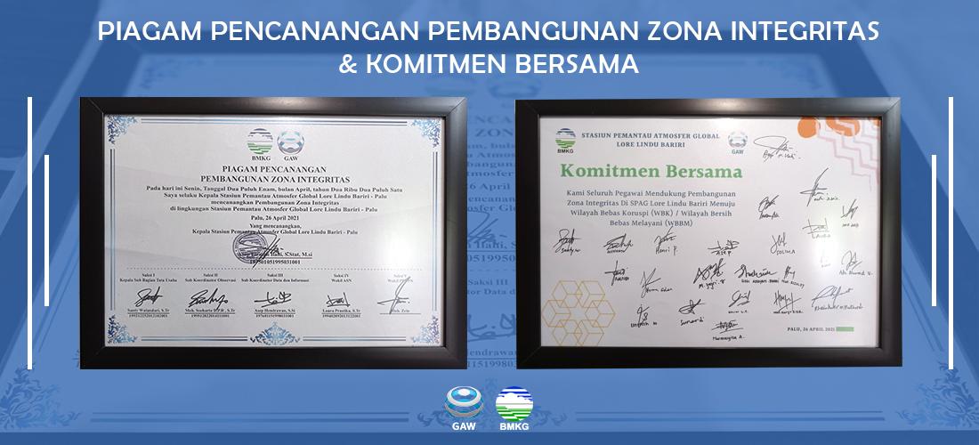 Piagam dan Komitmen Bersama Pencanangan Zona Integritas